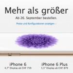 iPhone 6 in der Schweiz ab 4. Oktober erhältlich