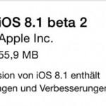 Apple veröffentlicht iOS 8.1 Beta 2 für Entwickler