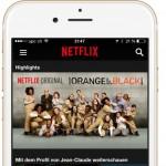 Netflix App für iPhone 6 und iPhone 6 Plus angepasst