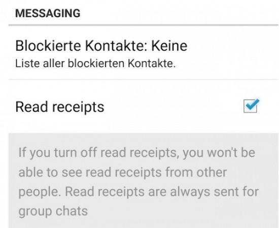 WhatsApp blauer haken deaktivieren