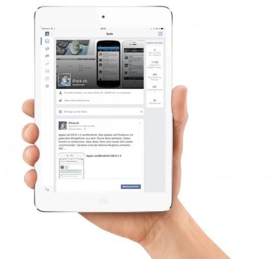Facebook-Seiten-App-iPad-2
