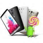 LG G3: Android 5.0 Lollipop wird für Geräte ohne Branding verteilt