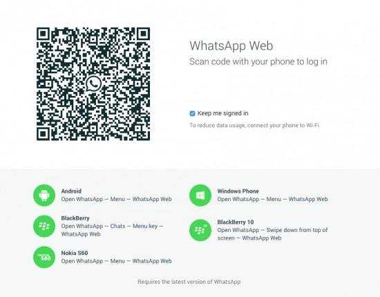 WhatsApp-Web-QR-Login-Page