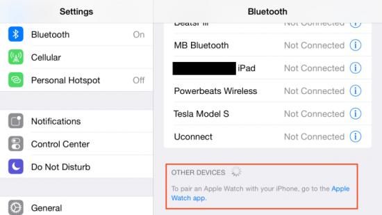 iOS 8.2 Beta 4 Bluetooth