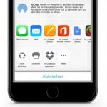 Dropbox unterstützt neu iOS 8 Sharing