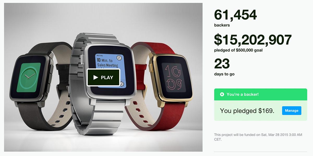 Pebble Time: Erfolgreichstes Kickstarter Projekt bisher ...