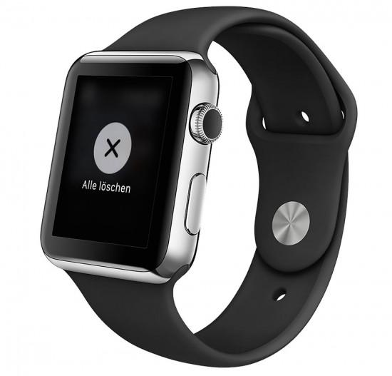 Apple Watch Benachrichtigungen löschen