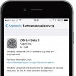 Apple veröffentlicht iOS 8.4 Beta 3
