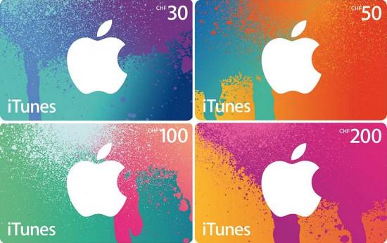 iTunes-Geschenkkarten