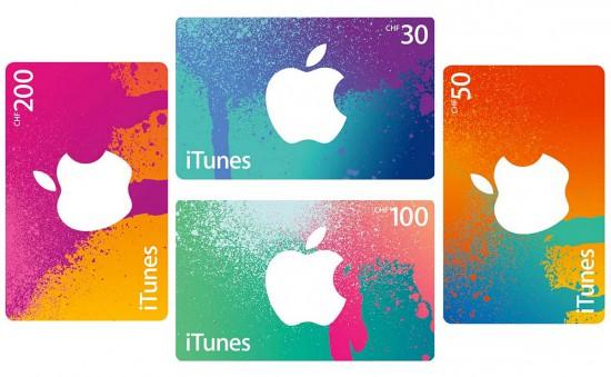 iTunes-Karten-Schweiz