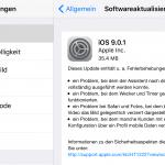 Apple veröffentlicht IOS 9.0.1 Bugfix Update
