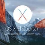 Mac OS X El Capitan erscheint am 30. September