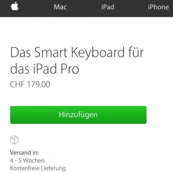 Lieferzeit Smart Keyboard