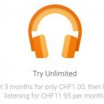 Google Play Musik: 3 Monate für einen Franken/Euro auch für ehemalige Nutzer