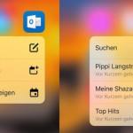 Outlook und Spotify unterstützen jetzt 3D Touch