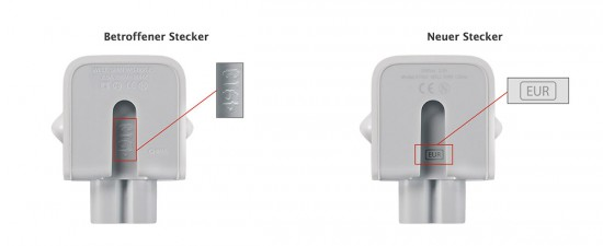 Apple-Netzstecker-Austausch