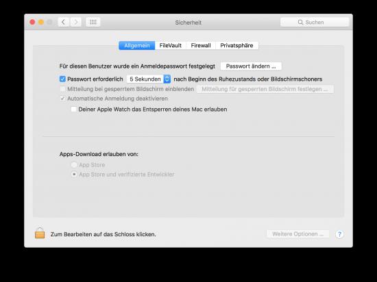 macOS Sierra Security Apple Watch