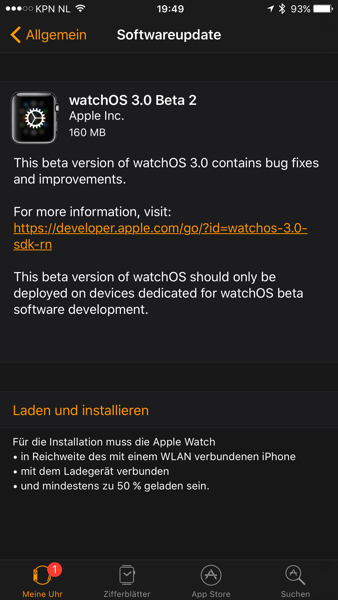 watchOS 3 Beta 2 small