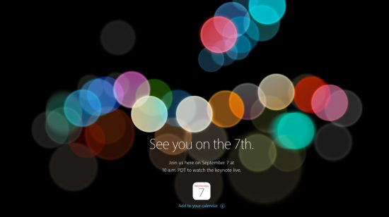 Apple iPhone 7 Keynote Livestream