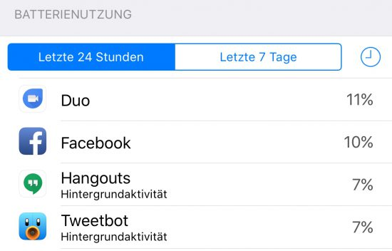 Duo Batterie iOS