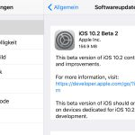 Apple gibt iOS 10.2 Beta 2 zum Download frei