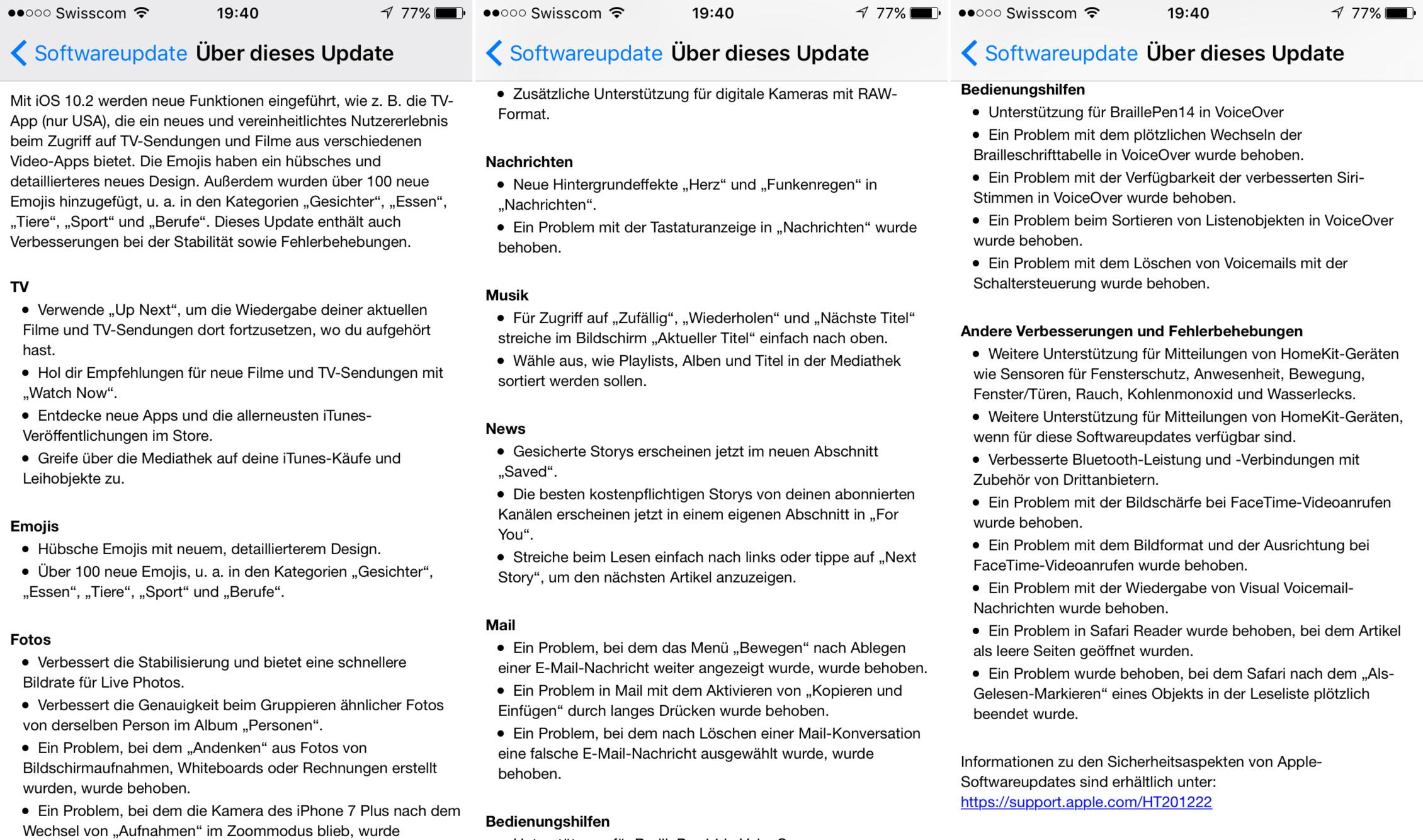 Apple veröffentlicht iOS 10.2 für iPhone und iPad - iFrick.ch ...