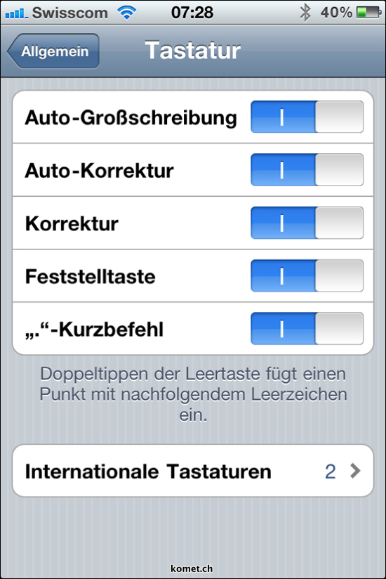 iOS 4.1 Auto Correction